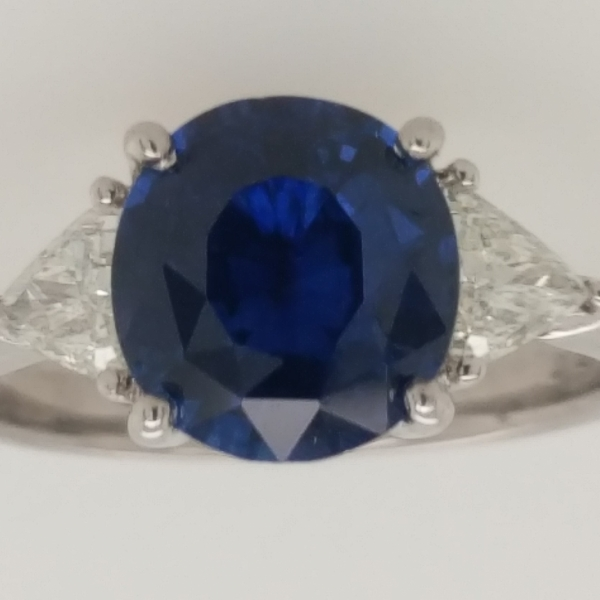 Sapphire and Diamond Three Stone Ring by Next Generation