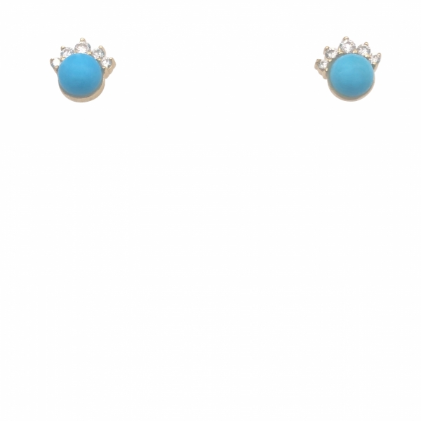 Next Generation Turquoise & Diamond Earrings by Next Generation
