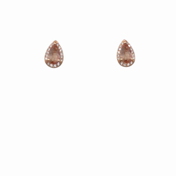 14K RG Next Generation Imperial Topaz and Diamond Earrings by Next Generation
