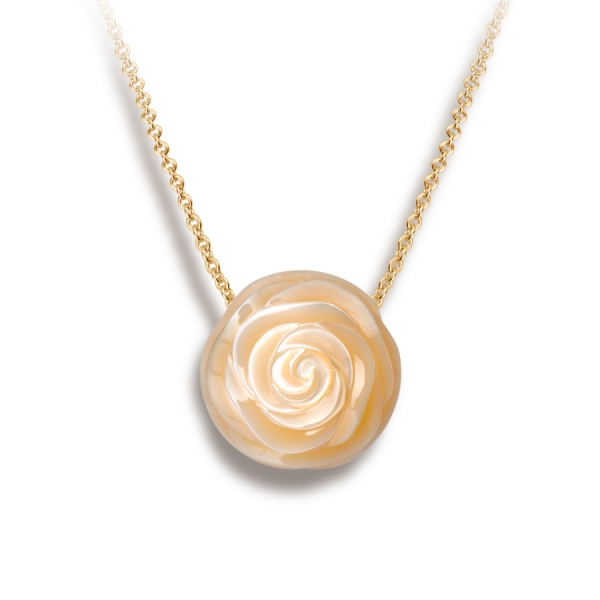 Galatea Carved Pearl Pendant by Galatea Pearls
