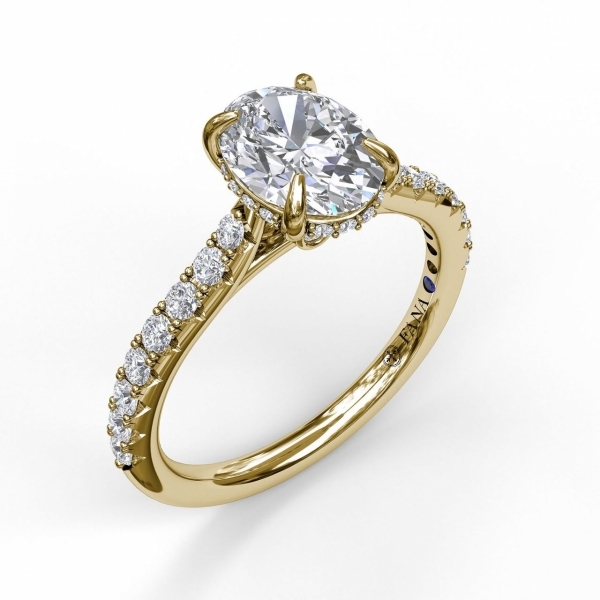 Next Generation Cathedral Diamond Engagement Ring by Next Generation