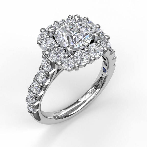 Next Generation Halo Diamond Engagement Ring by Next Generation