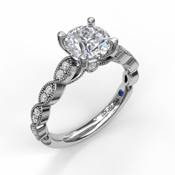 Next Generation Marquis Pattern Diamond Engagement Ring by Next Generation