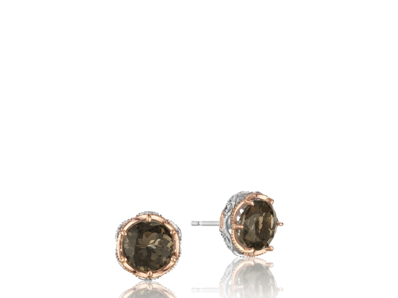 Tacori Color Medley Crescent Crown Studs by Tacori
